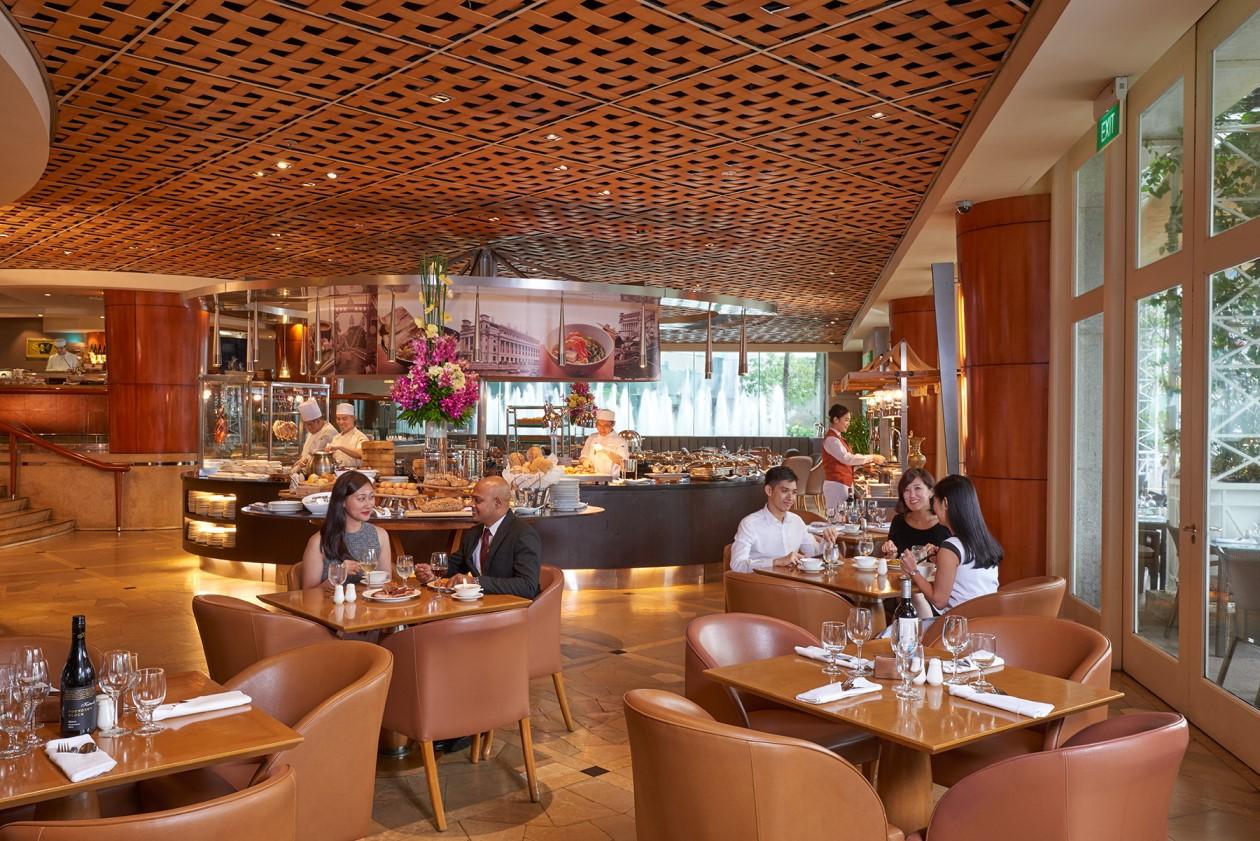 Buffet Dinner At Town Restaurant Fullerton Hotel Singapore